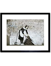Banksy Maid Graffiti Street Art Framed Wall Art Print バンクシー落書き通り壁