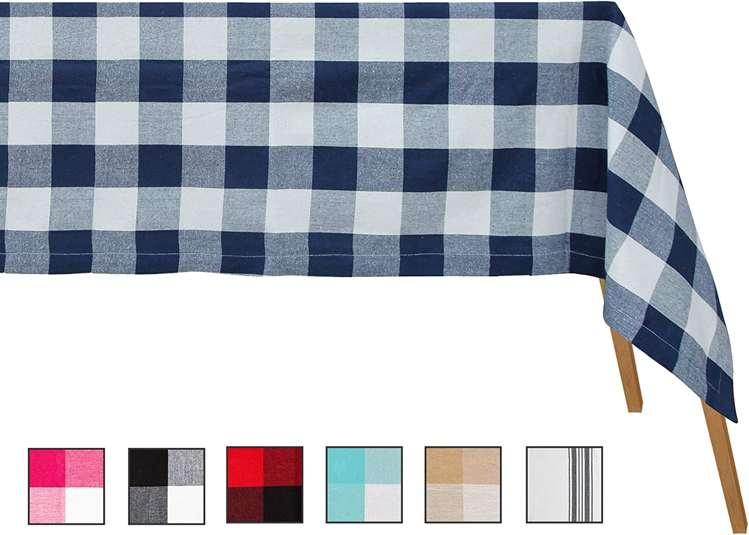 Buffalo Plaid Tablecloth - Cotton Blue Beauty Regular discount products Tablec
