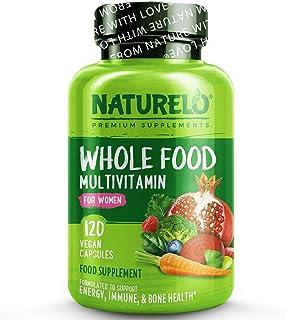 فيتامينات غذائية كاملة من ناتشرلو للنساء- فيتامينات ومعادن طبيعية، مستخلصات عضوية خام- افضل مكمل غذائي للطاقة وصحة القلب- ...