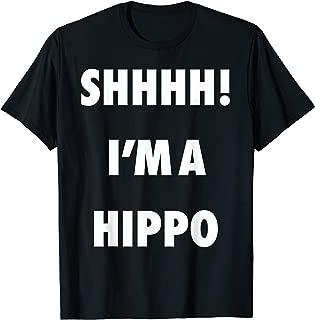 Shhhh I'm a Hippo Funny Halloween Costume T-Shirt