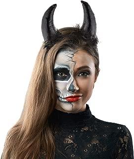 Lux Accessories Halloween Girls Festive Fun Sequin Devils Ears Horn Sexy Costume Headband