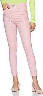 Spykar Women's Casual Slim Jeans (ALE-01AI-014_Pink_28)