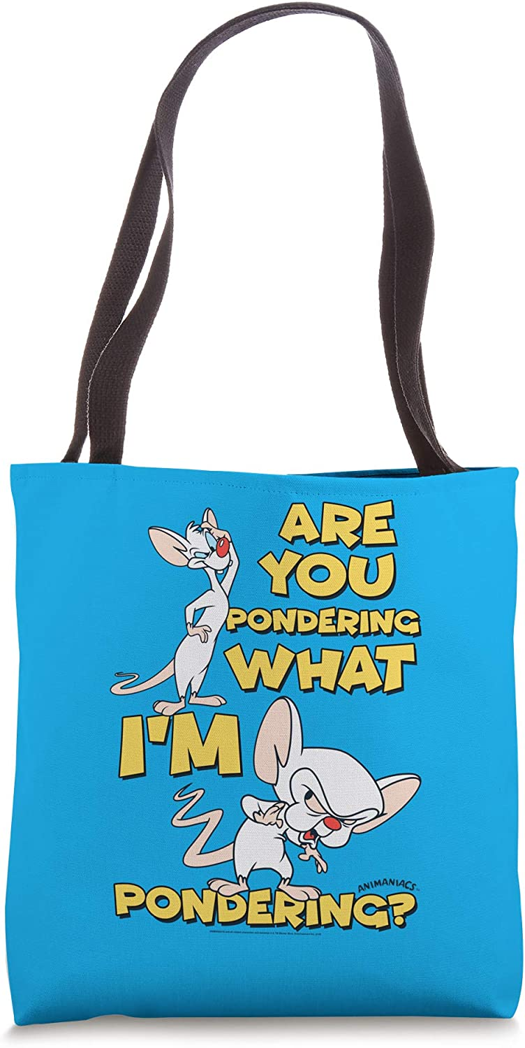 Pinky and the Brain Pondering Tote Bag