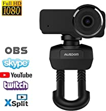 Webcam 635,Full HD Laptop Webcam,1080P Streaming Web Camera with Built-in Stereo Microphone,Widescreen Video Calling and Recording Desktop PC USB Camera for YouTube Xsplit Mixer Skype Twitch OBS