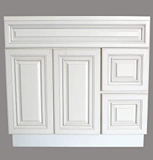 New Antique White Single sink Bathroom Vanity Base Cabinet 36