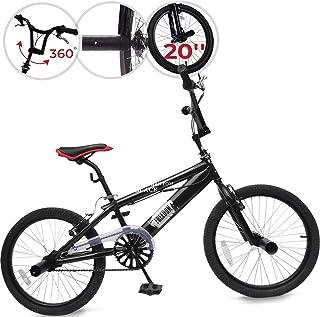 Jago Bicicleta BMX - BlackPhantom con Ruedas de 20 Pulgadas