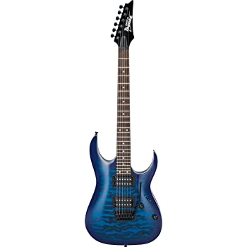 Ibanez GRGA 6 String Solid-Body Electric Guitar, Right, Transparent Blue Burst, Full (GRGA120QATBB)