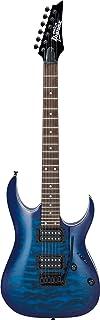 Ibanez GRGA 6 String Solid-Body Electric Guitar Right Full Transparent Blue Burst