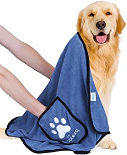 Nobleza Dog Towel, Super Absorbent Large Pet Towel with Hand Pockets, Microfiber Quick Drying Dog Towels for Drying Dogs, ...