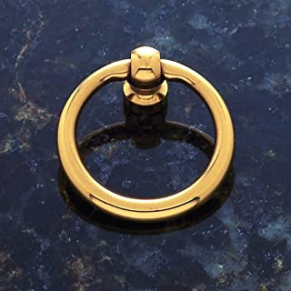 """Classic Collection Solid Brass Finish 1 1/2"""" Dia. Ring Pull"""