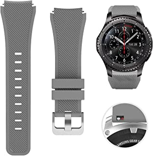 SAPU Bands for Samsung Gear S3 Frontier/Classic Watch Silicone Bracelet, Sports Silicone Band Strap Replacement Wristband ...