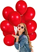 Treasures Gifted Solid Red Balloons 12 Inch 100 Pack Thick Latex Bridal Shower Decor Valentines Day Decorations 4th of July Bulk Party Supplies for Wedding Birthday Graduation Independence Day