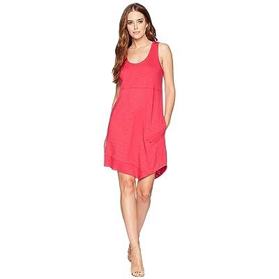 Lilla P Asymmetrical Hem Dress (Azalea) Women