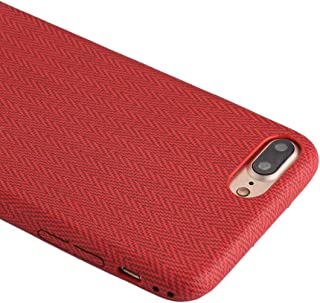 QFH For iPhone 8 Plus & 7 Plus TPU Wave Pattern Protective Back Cover Case (Green) new style phone case (Color : Red)