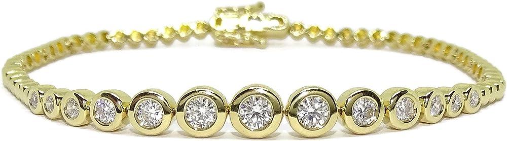 Never say never - bracciale da donna in oro giallo da 18 carati, con 13 diamanti 0,95 ct 91715175