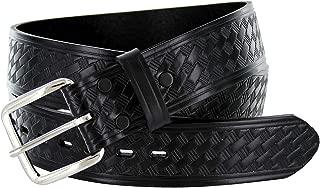 Men's Basketweave 1.75 Inch Wide Genuine One Piece Leather Utility Uniform Work Belt