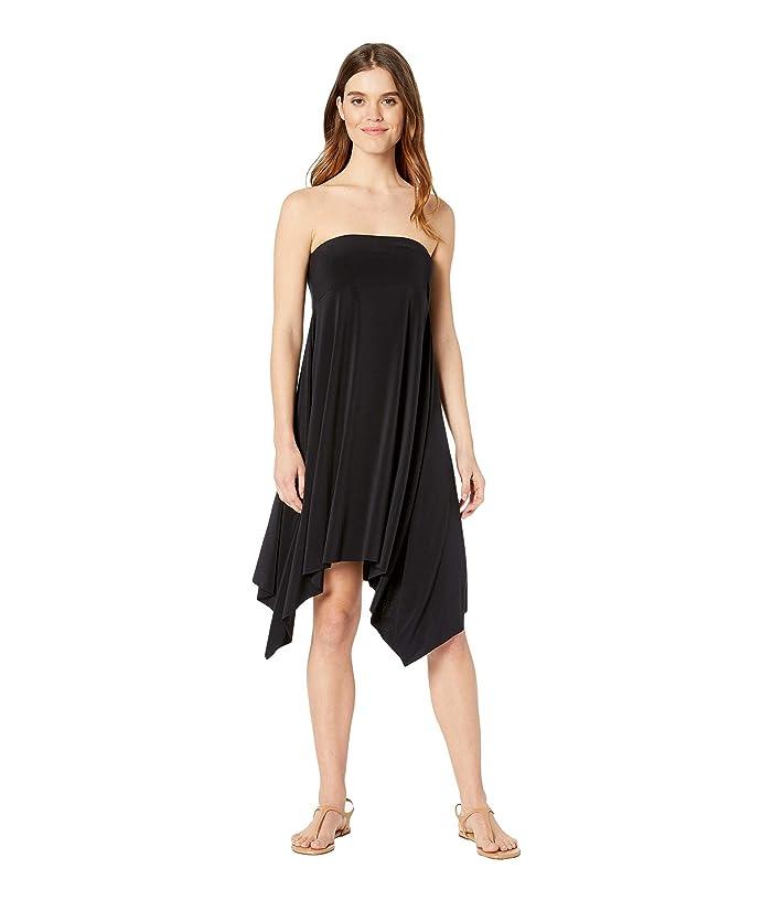 Magicsuit Jersey Handkerchief Skirt/Dress Cover-Up (Black) Women