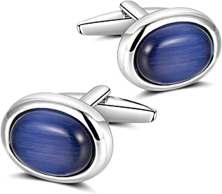 Cufflinks for Men - Men's Unique Cuff Links Premium Polished Rhodium Coating Various Gorgeous Patterns, 100% Handcrafted for Wedding Business Shirts