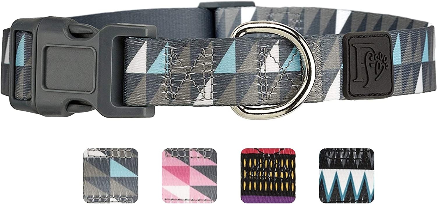 Albuquerque Mall Friends Forever Dog Collar with Adjustable 4 years warranty Nylon Pattern Design