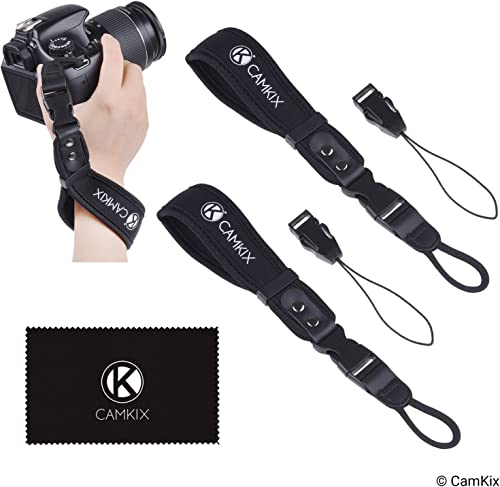 Wrist Straps for DSLR and Compact Cameras - 2 Pack - Extra Strong and Durable - Comfortable Neoprene Bracelet - Adjus...