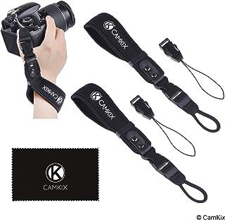 Correas de muñeca para DSLR y cámaras compactas – Paquete de 2 – Extra Fuerte y Durable – Cómoda Pulsera de Neopreno – Ajustable – Pinza de liberación rápida – Correas adicionales y paño de Limpieza