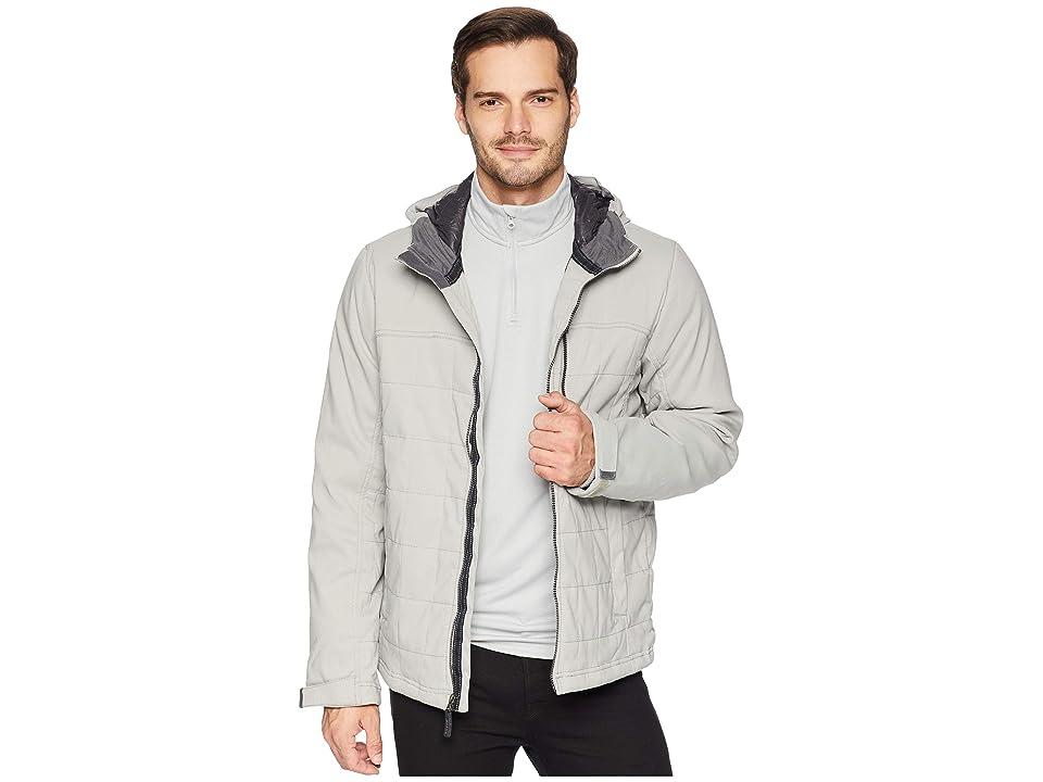 Prana Zion Quilted Jacket (Grey) Men
