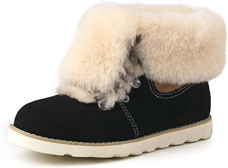 Ausland Women's Leisure Leather and Sheepskin Short Boot 9158