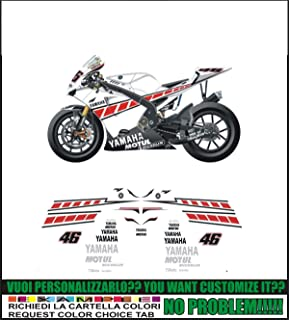 possibilit/à di personalizzare i colori Kit adesivi decal stikers yamaha YZF R1 2008 BLACK