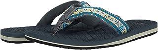 Quiksilver Men's 3 Point Sandal Flip-Flop, Green/Blue/Grey Hillcrest, 6