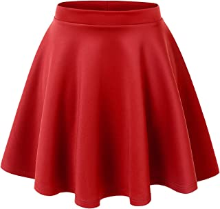 ac8970583 Made By Johnny Women's Basic Versatile Stretchy Flared Casual Mini Skater  Skirt XS-3XL Plus