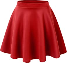 H/&C Womens Versatile Stretchy Flared Skater Skirt Made in USA