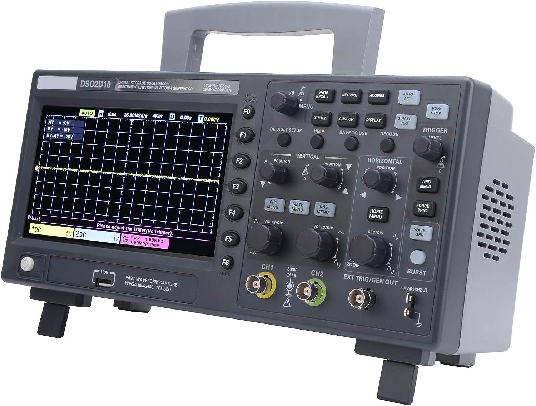 DSO2D10 Max 66% OFF Jacksonville Mall 2CH Digital Storage Oscilloscope s Oscil 1GSa 8M 100MHz