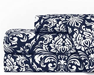 Egyptian Luxury 1600 Series Hotel Collection Damask Pattern Bed Sheet Set – Deep..