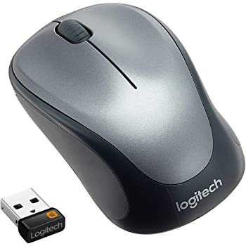 Logitech M235 Wireless Mouse, 2.4 GHz with USB Unifying Receiver, 1000 DPI Optical Tracking, 12 Month Life Battery, Compatible with Windows, Mac, Chromebook/PC/Laptop - Black/Grey