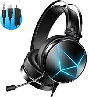 PeohZarr Gaming Headset One Headset PS4 Headset with 7.1 Surround Sound PC Headset with..