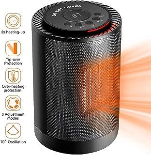 WHBQ Calefactor Ventilador Ceramico Función Silence Exquisito Portátil Conveniente Protección contra Sobrecalentamiento para Oficina Hogar 3 Modos De contra Viento