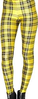 Women's Fashion Digital Printed Plaid Leggings