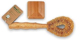 Bambaw Set Rasqueta Cocina | Set Estropajo Ecológico | Estropajo Natural Y Estropajo con Mango | Dish Brush | Friega Platos | Estropajo Ecológico | Estropajos Cocina | Limpieza Cocina