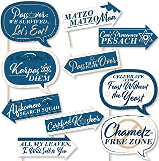 Big Dot of Happiness Funny Happy Passover - Pesach Jewish Holiday Party Photo Booth Props Kit - 10 Piece