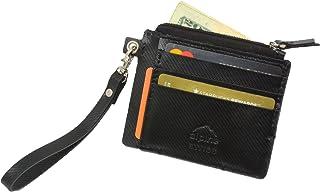 Alpine Swiss Womens RFID Mini Wristlet Wallet Leather Card Case Zipper Clutch