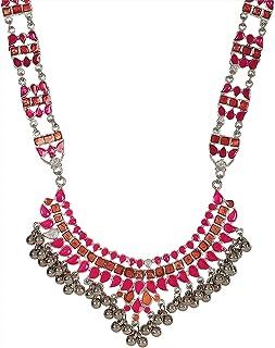 Crunchy Fashion Bollywood Traditional Indian/Bohemian Style Afgani Oxidized Silver Boho Gypsy Tribal Handmade Jewelry Neck...