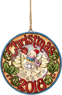 Enesco 6001500 Dated 2018 Snowman Ornament, Multicolor