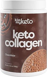 Kiss My Keto Shake Keto Collagen Powder + MCT Oil (5g) — Chocolate - Keto Protein Powder Zero Carb, Grass Fed Collagen Pep...
