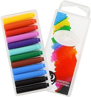 Thornton's Luxury Goods Short Standard International Fountain Pen Ink Cartridges, Assorted Ink, Pack of 12