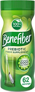 Benefiber Daily Prebiotic Dietary Fiber Supplement Powder for Digestive Health, 100% Natural, Clear and Taste-Free, 62 ser...