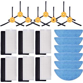 MIRTUX Kit de 6 mopas para Conga Excellence 990. Pack de paños Lavables para aspiradora Robot cecotec Conga. Repuestos y Accesorios.: Amazon.es: Hogar