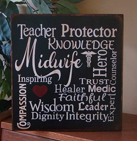 456Yedda Wood Sign Midwife Typography Wooden Primitive Wooden Sign Wooden Signs For Home Decor