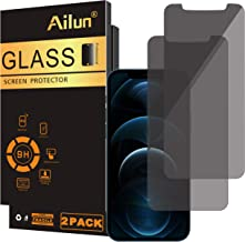 Ailun Privacy Screen Protector Compatible for iPhone 12 pro Max 2020 6.7 Inch 2 Pack Anti Spy Case Friendly Tempered Glass [black]