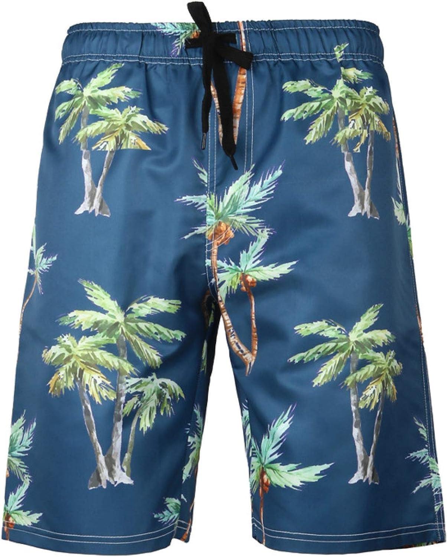 Katenyl Men's Hawaiian Printed Shorts Loose Fashion Quick-Drying Trend Large Size
