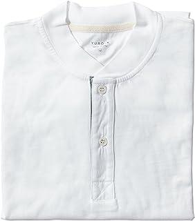 YURO-K Men's Premium Garment Dyed Cotton Short Sleeve Polo Henley Shirt with Collar